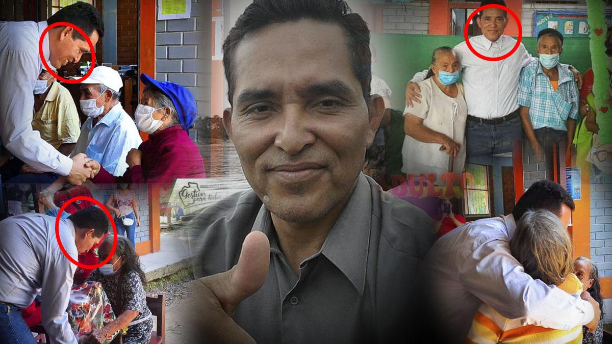 Sin mascarilla y sin distanciamiento: el alcalde que hace agasajos para ancianos en plena pandemia