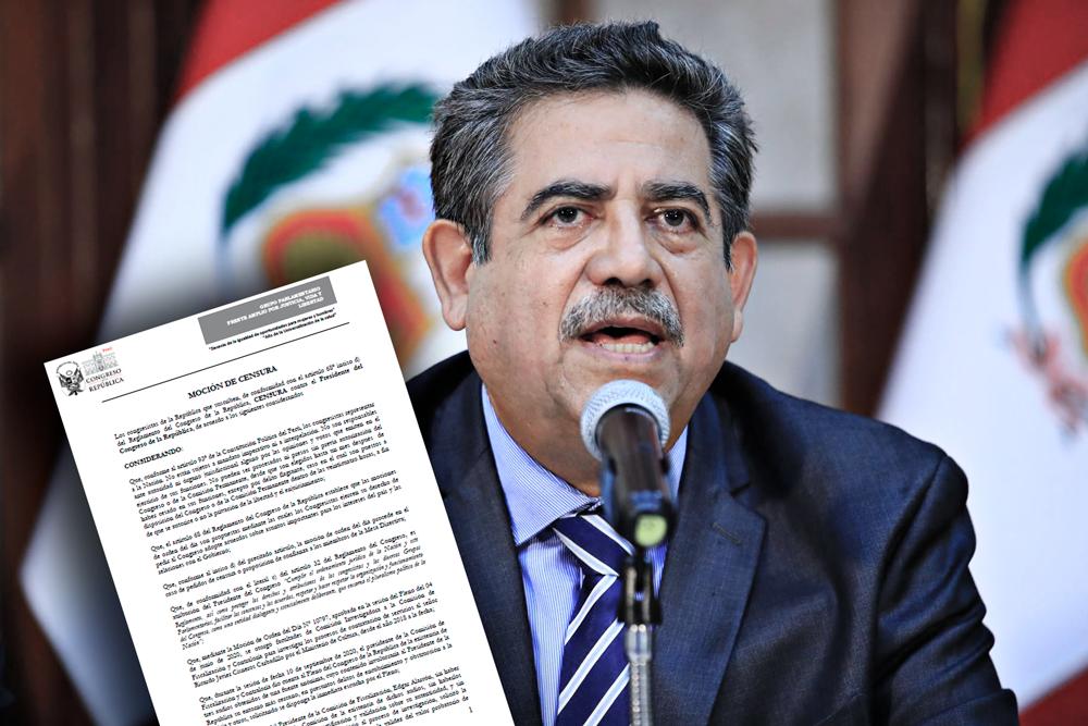Presentan moción de censura en contra de Manuel Merino