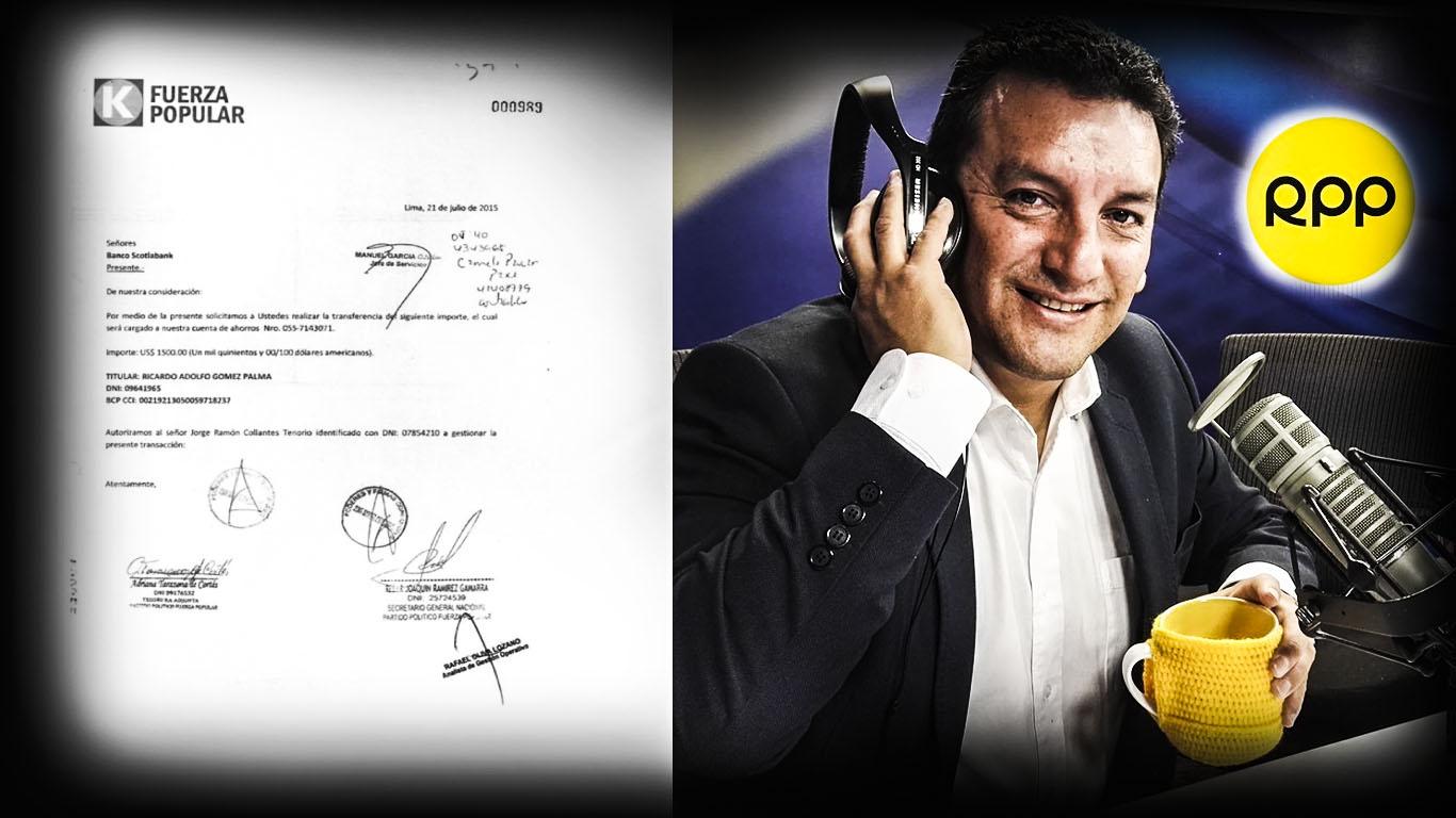 Fiscal José Domingo Pérez cita a conductor de RPP por caso Fuerza Popular