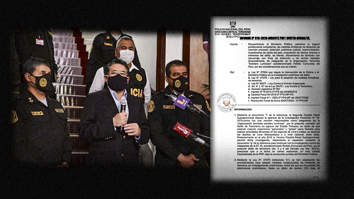 """El informe del megaoperativo """"Olimpo"""" contra los presuntos integrantes de Sendero Luminoso"""