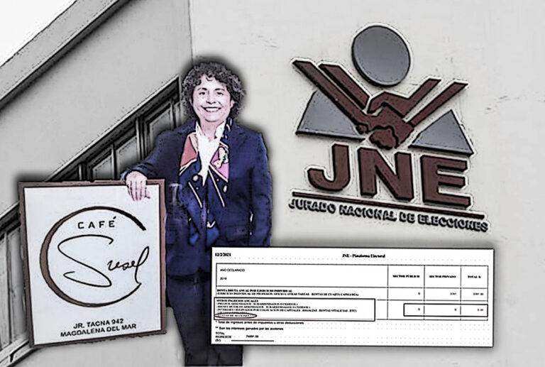 Café amargo: Susel Paredes omitió declarar empresa ante el JNE