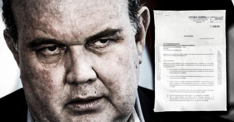 Rafael López Aliaga amenaza a EL FOCO