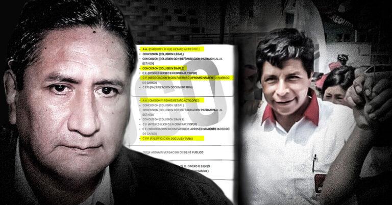 El expediente fiscal de Vladimir Cerrón