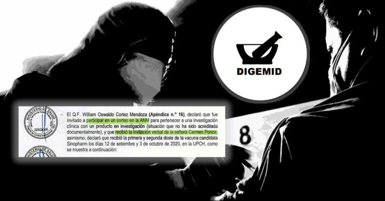 Contraloría confirma que en Digemid hubo sorteo de vacunas de Sinopharm